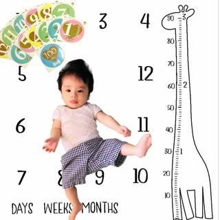 Amazon | Mille Ti Rana 赤ちゃん 成長記録 がわかる ベビーフォトマンスリーステッカー セット (117404)