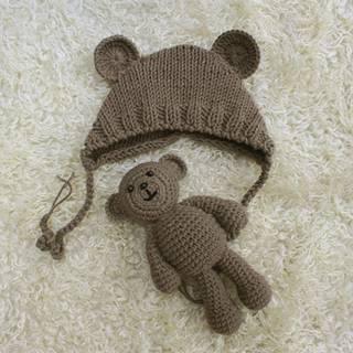 Amazon | Tovadoo ニット帽+ぬいぐるみのクマ 2点セット ベビー帽子  (118650)