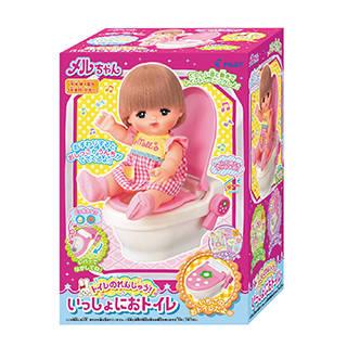Amazon | メルちゃん おせわパーツ トイレのれんしゅう! いっしょにおトイレ (124821)