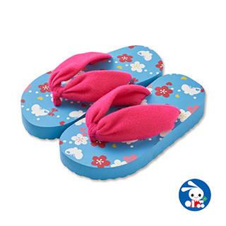 【楽天市場】浴衣用サンダル 桜・蝶(ブルー)【16.5cm・18cm・19.5cm】 (125385)