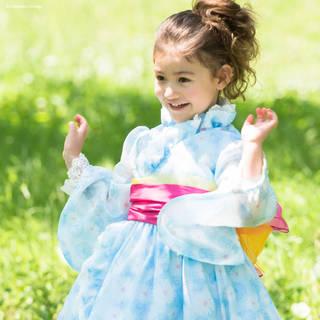 【楽天市場】子供用 デイジー柄ふんわり浴衣ドレス 【100 110 120 130cm】 (125830)