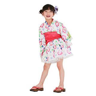 Amazon | リトルプリンセス 浴衣ドレス 子供 浴衣ドレス+兵児帯 ベビー キッズ (125836)