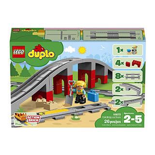 Amazon | レゴ(LEGO) デュプロ あそびが広がる! 鉄道橋とレールセット (126150)