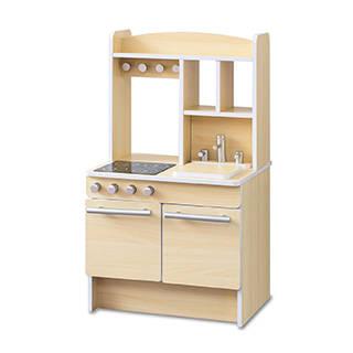 Amazon | RiZKiZ おままごとキッチン お店ごっこ対応 【ナチュラル】 (126569)