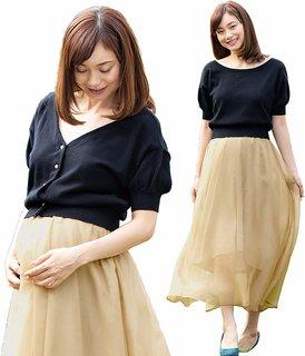Amazon.co.jp: Sweet Mommy マタニティ 授乳服 ワンピース ニットカーディガン  (128109)