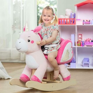 Amazon | Labebe 子供用ロッキングホース 乗用玩具 ゆらゆらロッキング キッズ用木馬 (129465)