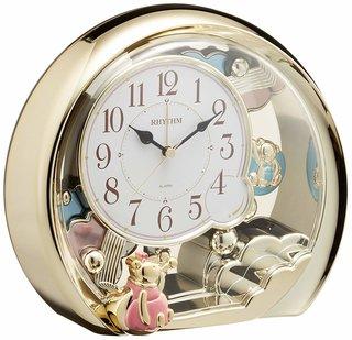 Amazon.co.jp: リズム時計 置き時計 アナログ ファンタジーランド504SR (130357)