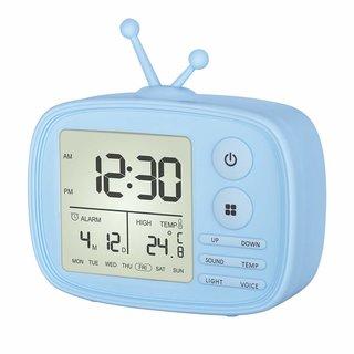 Amazon|Ninonly 目覚まし時計 置き時計 卓上時計 音声感知 室温表示 (130383)
