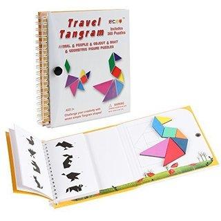 Amazon | D-FantiX タングラムパズル 旅行ゲーム タングラム Book 知恵パズル  (130931)