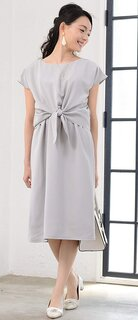 Amazon | Milk tea マタニティ 授乳服 ワンピース ジョーゼット・リボン (132065)