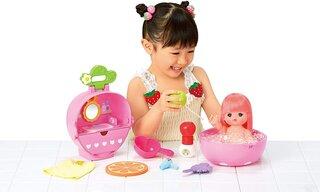 Amazon | メルちゃん お人形セット フルーツいっぱい!いちごのおふろセット (133059)