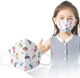 Amazon | AXBdoll マスク 使い捨てマスク 3D超立体型マスク 子供用マスク 小さめ 不織布マスク (50枚入, 車) (133761)