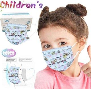 Amazon.co.jp: マスク 50枚 個包装 マスク 子供たち 使い捨てマスク 夏用 3層構造 (133770)