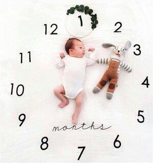 Amazon | kiejun ベビーフォト 撮影シーツ 寝相アート 記念撮影 赤ちゃん フォトシーツ 誕生日 月齢フォト 成長記録 (134190)
