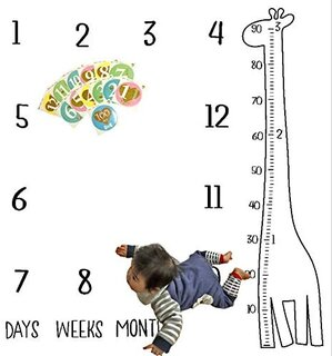 Amazon | Mille Ti Rana ベビー フォト シーツ 寝相アート 赤ちゃん 成長記録 月齢 (134191)
