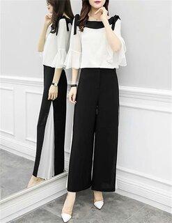 Amazon | EASONDDD セットアップ レディース パーティードレス パンツ スーツ  (134342)