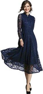 Amazon | (イノ)Yino ワンピース ドレス 結婚式 パーティードレス 総レース  (134365)