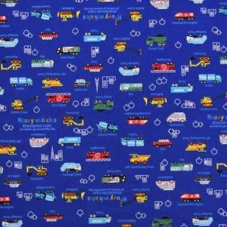 Amazon | アクセル全開はたらく車(ロイヤルブルー) オックス生地 (136033)