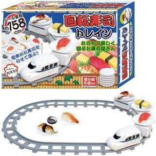 Amazon | 電車がおすしを乗せて走る!回転寿司トレイン 4両編成電動列車レール全長158cm 受け皿6枚付き (136050)