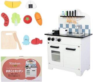 Amazon | [Towith] 豪華な20点おもちゃ付き おままごと キッチン 木製 ままごと セット (136556)