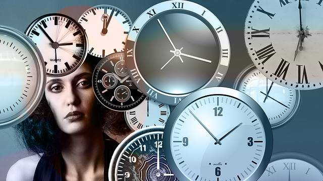 Free illustration: Time, Clock, Head, Woman, Face - Free Image on Pixabay - 1739629 (2528)
