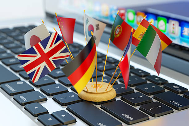グローバル・コミュニケーションとビジネスのコンセプト