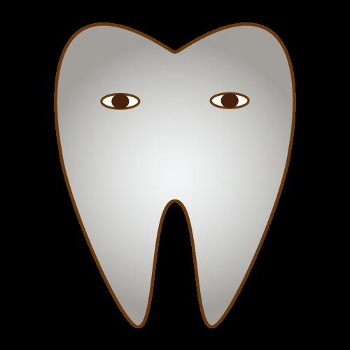 銀歯|イラストNo.458【歯科素材.com】 (5434)