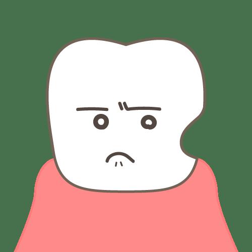 噛み合わせの影響:歯茎の境目がへこんでいる(顔付き)|イラストNo.2153【歯科素材.com】 (7034)