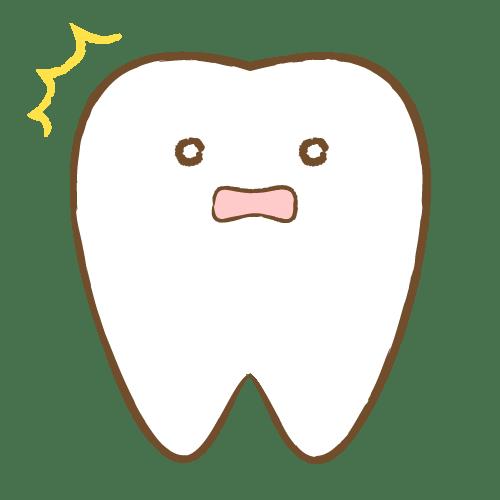 歯のキャラクター表情(驚) イラストNo.1730【歯科素材.com】 (7072)