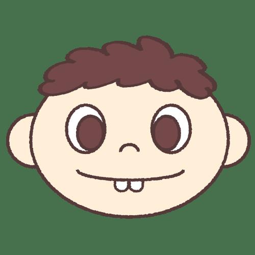 子供の歯並び(上顎前突) イラストNo.1881【歯科素材.com】 (7621)