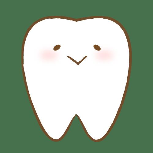 歯のキャラクター表情(楽) イラストNo.1722【歯科素材.com】 (7628)