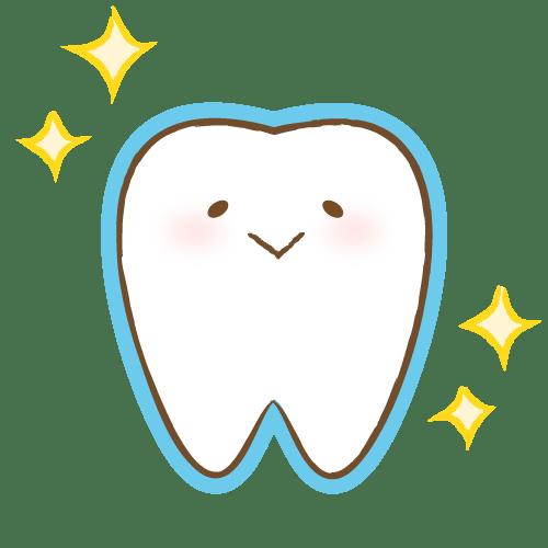 歯のキャラクター表情(コーティング) イラストNo.2130【歯科素材.com】 (7631)