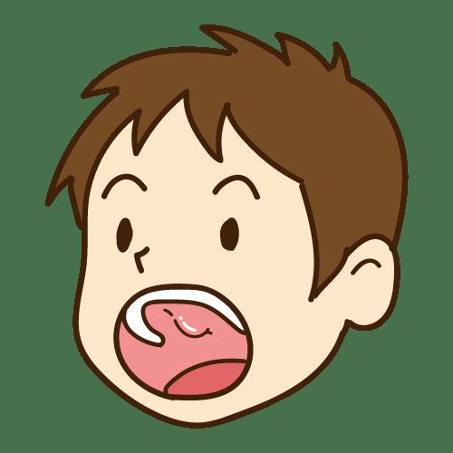 噛み合わせの影響:骨隆起がある(上の顎)|イラストNo.2160【歯科素材.com】 (8164)