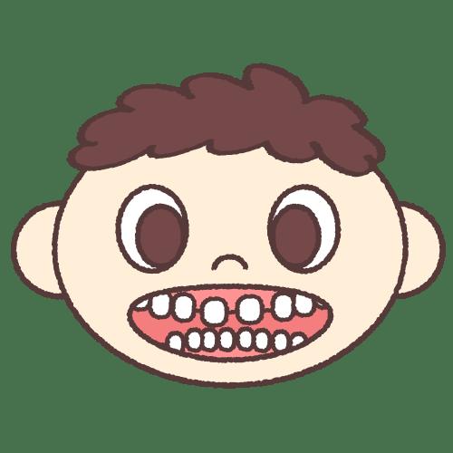 子供の歯並び(空隙歯列)|イラストNo.1879【歯科素材.com】 (8193)