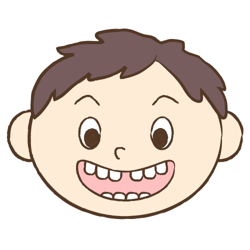 すきっ歯|イラストNo.1720【歯科素材.com】 (8248)