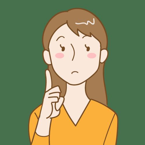 健康なお口を目指して:考え中のお姉さん|イラストNo.2078【歯科素材.com】 (8489)