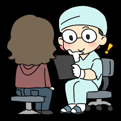 治療の流れ カウンセリング01 イラストNo.1192【歯科素材.com】 (8805)