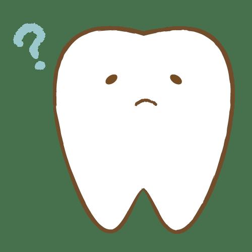 歯のキャラクター表情(考え中)|イラストNo.1734【歯科素材.com】 (9158)