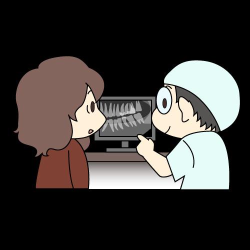 治療の流れ 治療の計画|イラストNo.1205【歯科素材.com】 (9159)