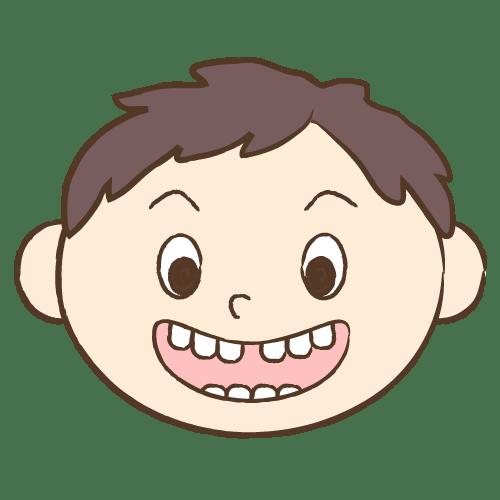 すきっ歯|イラストNo.1720【歯科素材.com】 (9784)