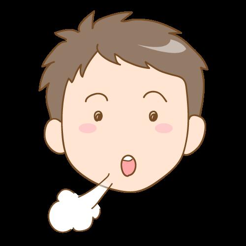 歯並びに影響する子供の悪癖(口で息をする)|イラストNo.1645【歯科素材.com】 (10127)