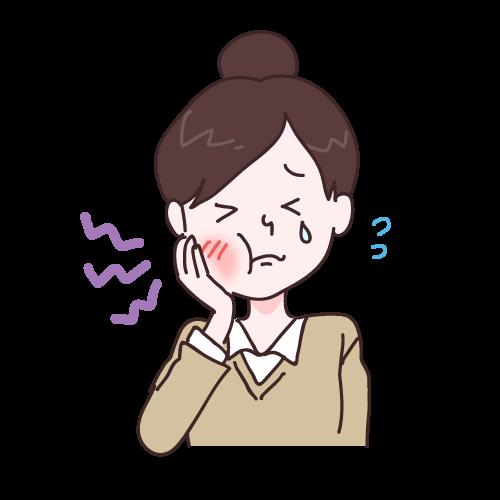 虫歯の女の子 イラストNo.1398【歯科素材.com】 (11662)