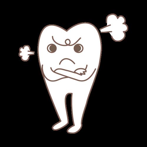 モル(プンプン)|イラストNo.1505【歯科素材.com】 (11807)