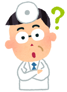 男性のお医者さんの表情のイラスト「目がハート・疑問・居眠り・照れ」 | かわいいフリー素材集 いらすとや (11837)