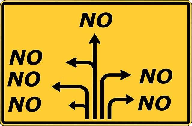 Free illustration: No, Road Sign, Direction - Free Image on Pixabay - 1513027 (6741)
