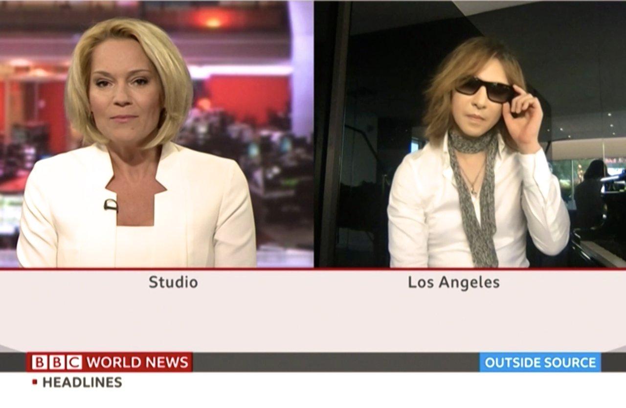 YOSHIKIが英国ニュース番組に生出演 1億人以上の視聴者に向け現状に対する想い語る