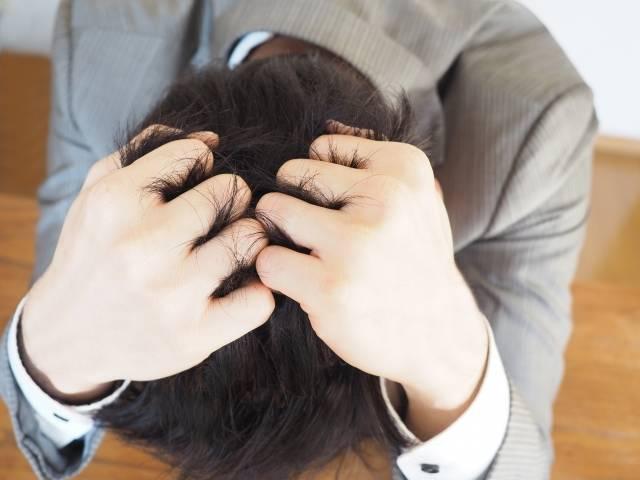 ビジネスマン【頭を抱える男性】|写真素材なら「写真AC」無料(フリー)ダウンロードOK (414)