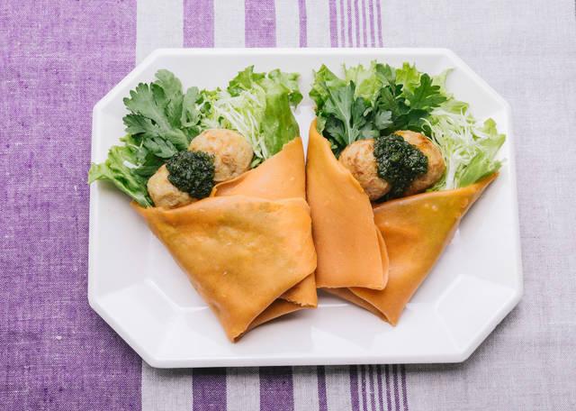 里芋の甘みとねっとり感「ジェノベーゼのベジクレープ 」|フリー写真素材・無料ダウンロード-ぱくたそ (2853)