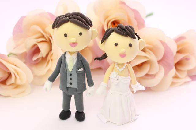 [フリー写真] 結婚式の新郎新婦の人形でアハ体験 -  GAHAG | 著作権フリー写真・イラスト素材集 (4457)