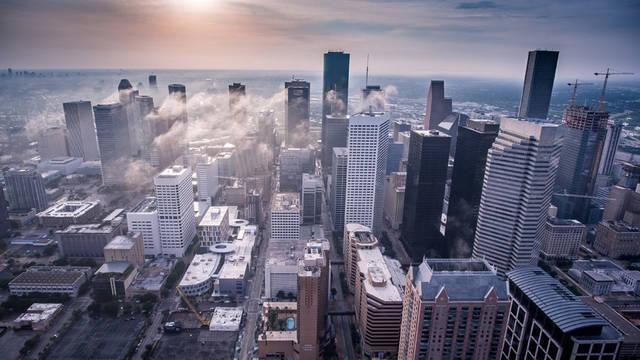 [フリー写真] 高層ビルが建ち並ぶヒューストンの街並み風景でアハ体験 -  GAHAG | 著作権フリー写真・イラスト素材集 (4579)